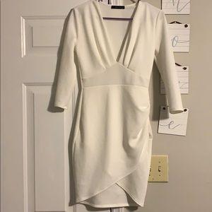 Maru White fitted dress